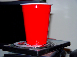The red plastic party cup.